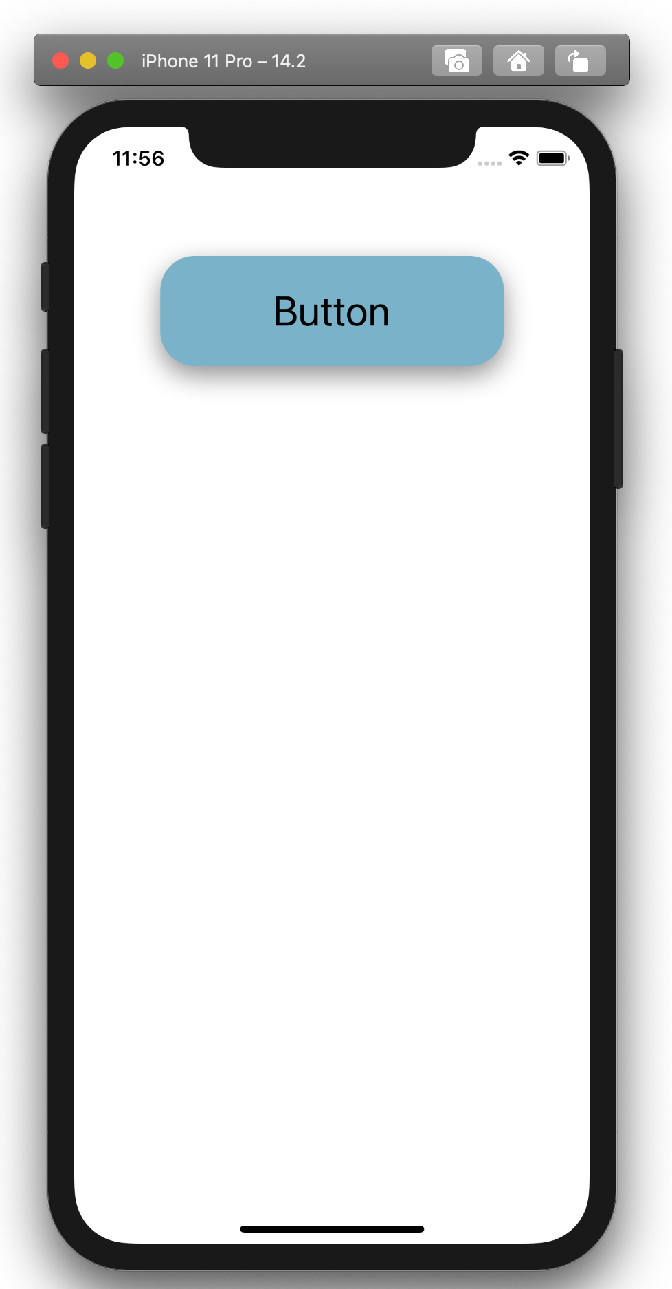 Screen shows button, no animation